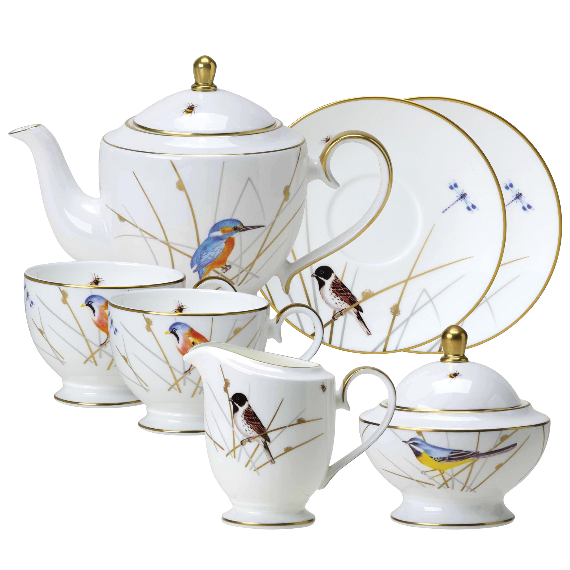 reed bone china footed tea set william edwards home. Black Bedroom Furniture Sets. Home Design Ideas